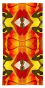 Tropical Leaf Pattern 7 Beach Towel