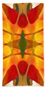 Tropical Leaf Pattern5 Beach Towel