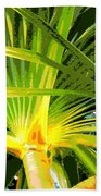 Tropical  Leaves Beach Towel