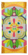 Tropical Mandala Beach Towel