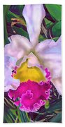 Tropical Orchid Beach Towel