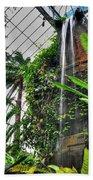 Tropical Paradise Falling Waters Buffalo Botanical Gardens Series   Beach Towel