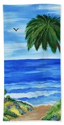 Tropical Path Beach Towel