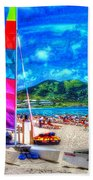 Tropical Sails Beach Towel