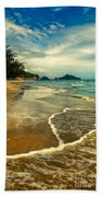 Tropical Waves Beach Towel