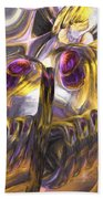 Tropical Wind Painted Abstract Beach Towel