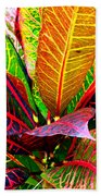 Tropicals Gone Wild Naturally Beach Towel