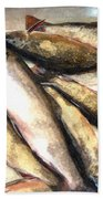 Trout Digital Painting Beach Towel