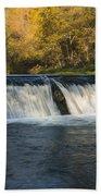 Trout Run Creek Dam 2 Beach Towel