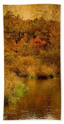 Trout Stream Textured Beach Towel
