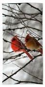True Love Cardinal Beach Towel