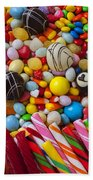Truffles And Assorted Candy Beach Towel