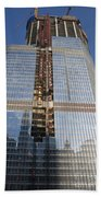 Trump International Hotel Under Construction Chicago Beach Towel