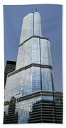 Trump Tower Facade 3 Letter Signage Beach Towel