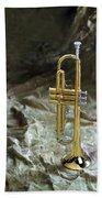 Trumpet N Canvas Beach Towel