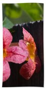 Trumpet Vine With Friend Beach Towel