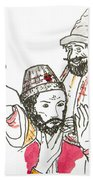 Tsar And Courtiers Beach Towel