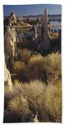 Ttufa Formations Mono Lake California Beach Towel