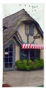 Tuck Box Tearoom - Carmel California Beach Towel