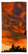 Tucson Arizona Sunrise Fire In The Sky Beach Towel