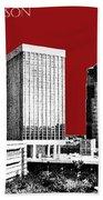 Tucson Skyline 1 - Dark Red Beach Towel
