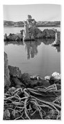 Tufa In Black And White Beach Sheet