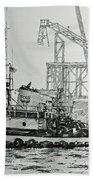 Tugboat Martha Foss Beach Towel