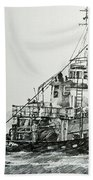 Tugboat Richard Foss Beach Towel