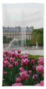 Tuileries Garden In Bloom Beach Towel by Jennifer Ancker