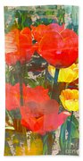 Tulip Abstracts Beach Towel