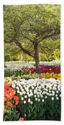 Tulip Garden Beach Towel