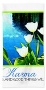 Tulip Karma Beach Towel