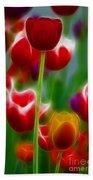 Tulips-7069-fractal Beach Towel