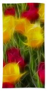 Tulips-7106-fractal Beach Towel