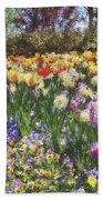 Tulips At Dallas Arboretum V33 Beach Towel