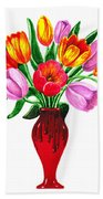 Tulips In The Vase Beach Sheet