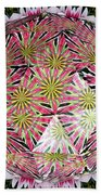 Tulips Kaleidoscope Under Polyhedron Glass Beach Towel