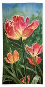Tulips On Fire Beach Towel