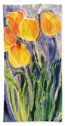Tulips Beach Towel by Sherry Harradence