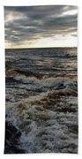 Tumultious Waters Beach Towel
