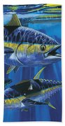 Tuna Blitz Off0039 Beach Towel