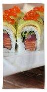 Tuna Sushi With Caviar  Beach Towel