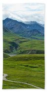 Tundra View From Eielson Visitor's Center In Denali Np-ak  Beach Towel