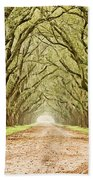 Tunnel In The Trees Beach Towel