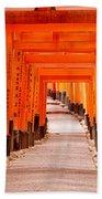 Tunnel Of Torii Gates, Fushimi Inari Beach Towel