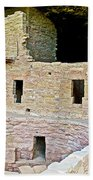 Tunnel Opening In Kiva Of Spruce Tree House On Chapin Mesa In Mesa Verde National Park-colorado  Beach Towel