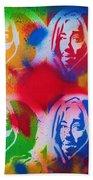 Tupac V Warhol Beach Towel