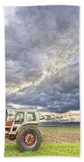 Turbo Tractor Country Evening Skies Beach Towel by James BO  Insogna