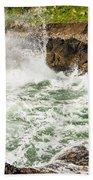 Turbulent Devils Churn - Oregon Coast Beach Towel