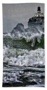 Turbulent Waters Beach Towel